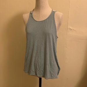 BCBG Maxazria teal tank with double straps size L